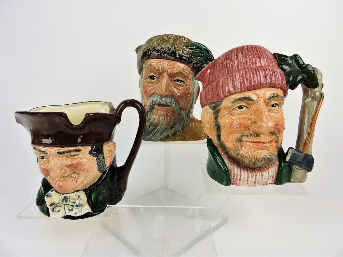 Royal Doulton lot of 3 large toby