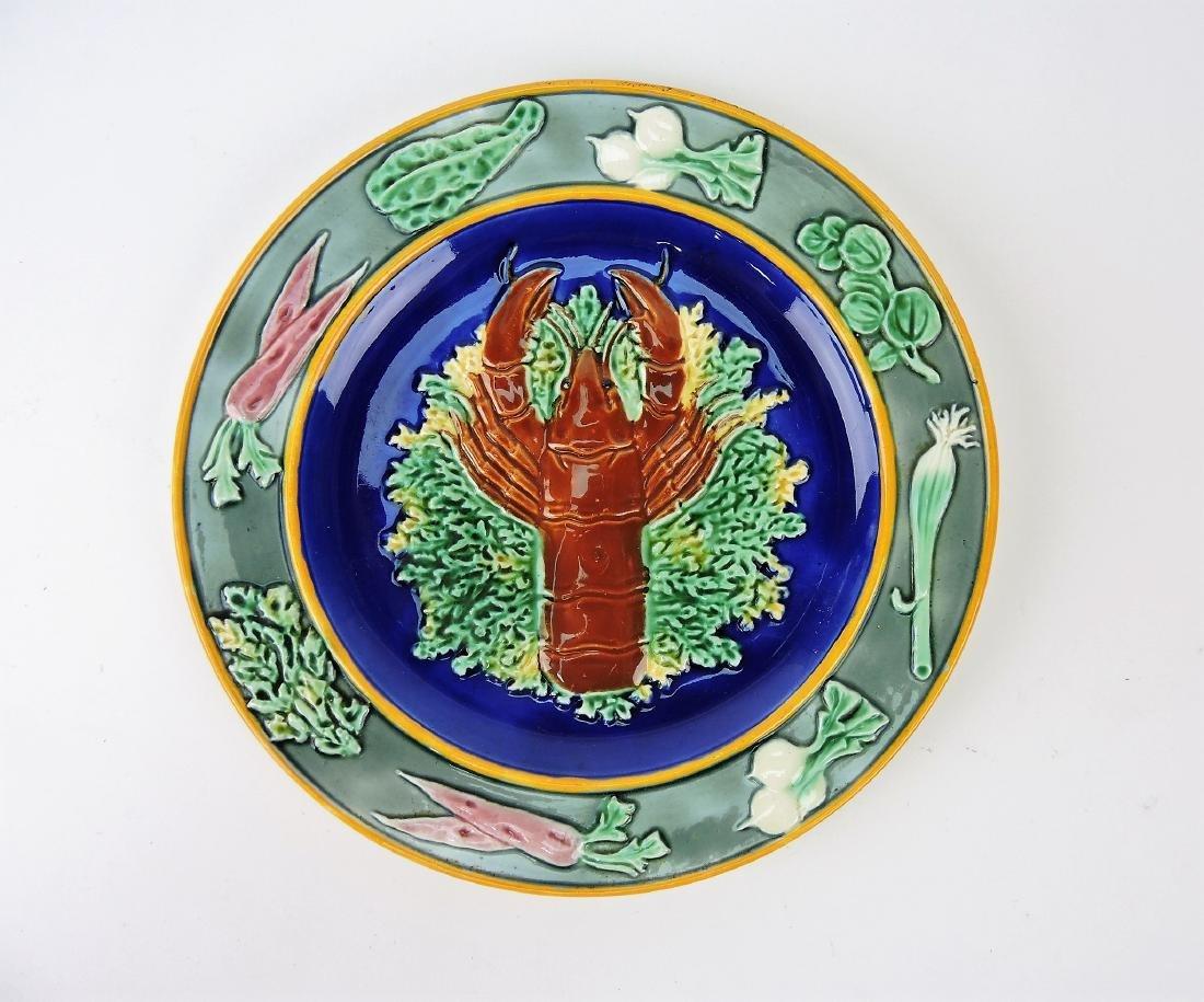 Wedgwood Majolica lobster plate,