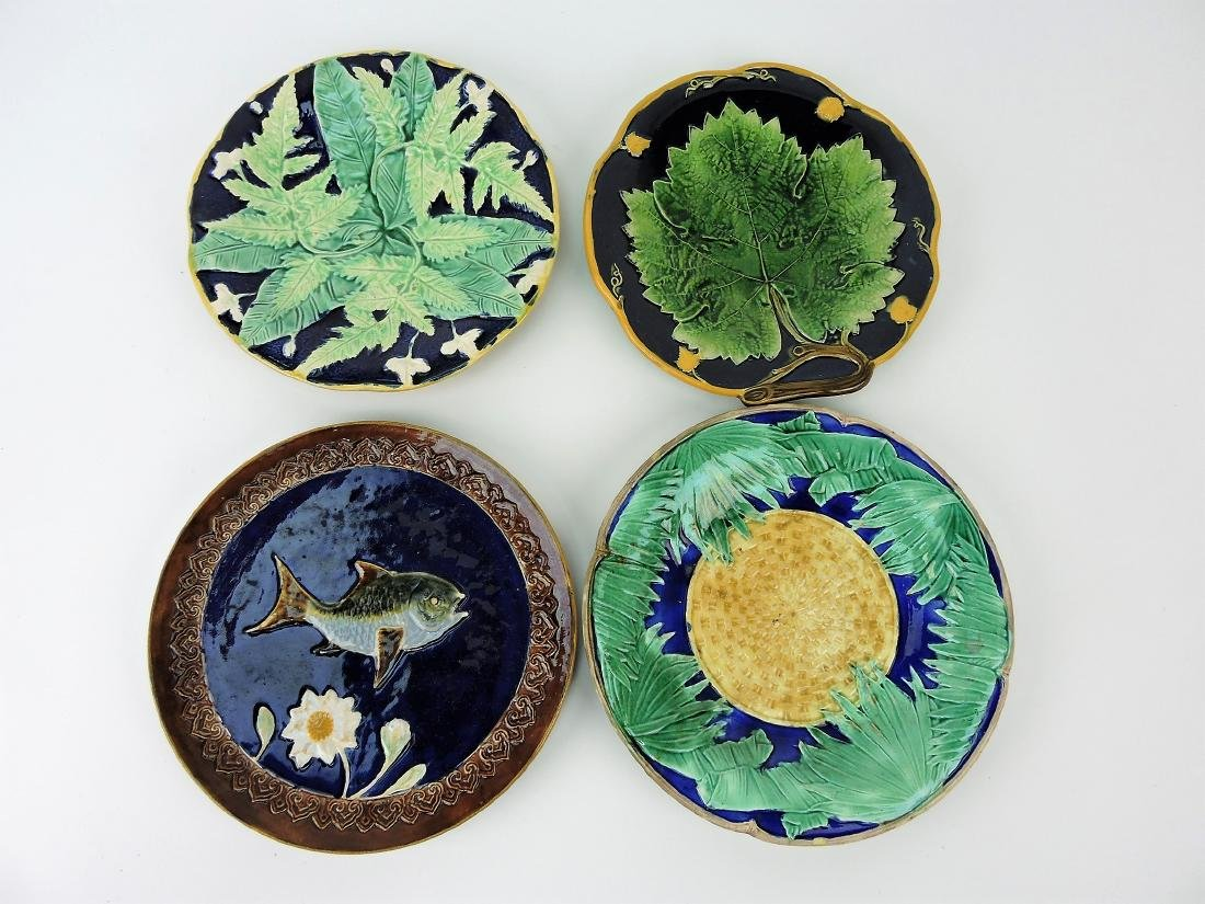 Majolica lot of  4