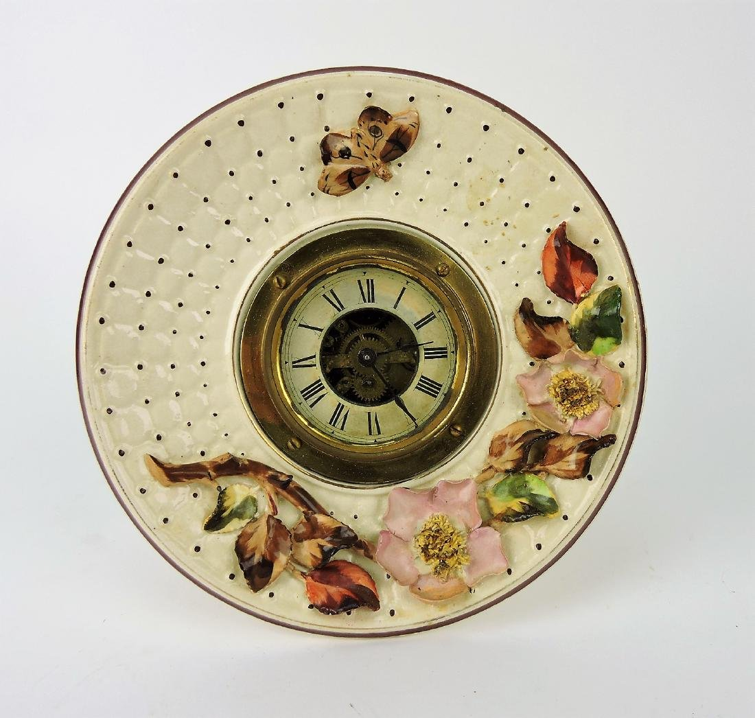 Avalon Majolica plate clock with
