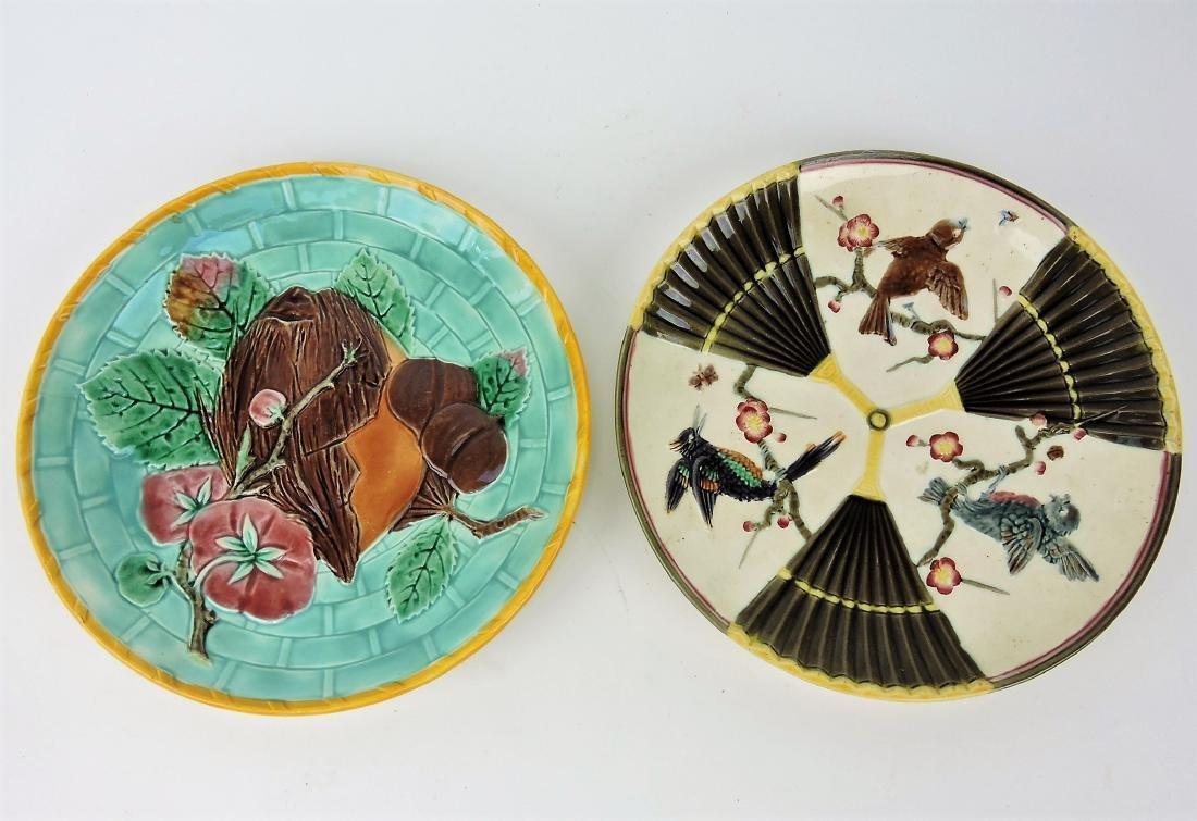 Wedgwood Majolica lot of 2 plates,