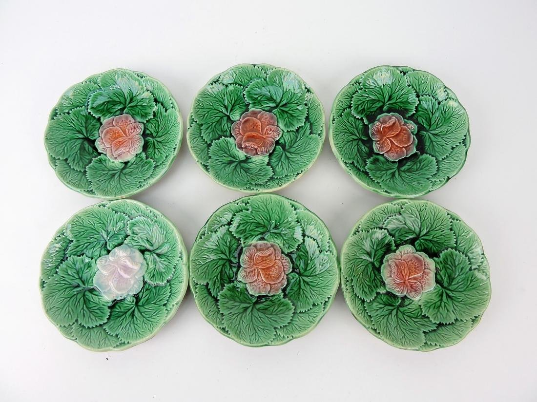 Majolica lot of 6 sauce dishes,