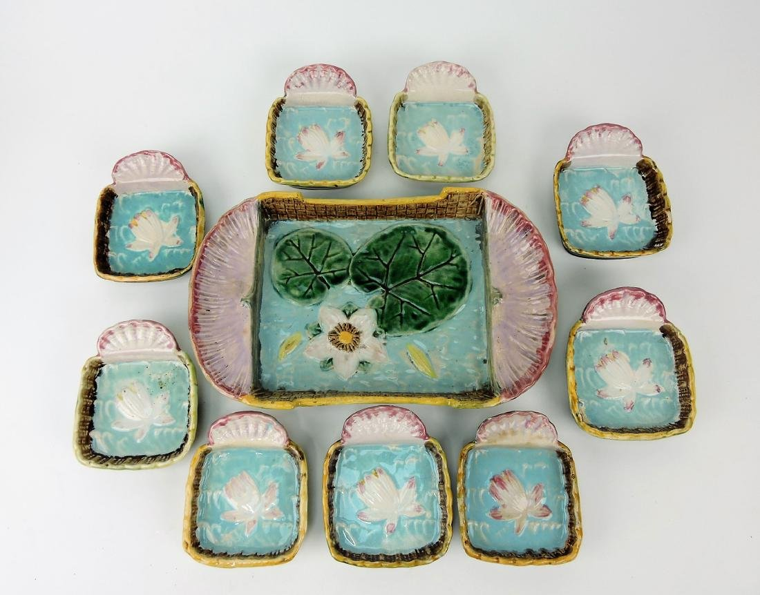 Majolica water lily and shell ice cream