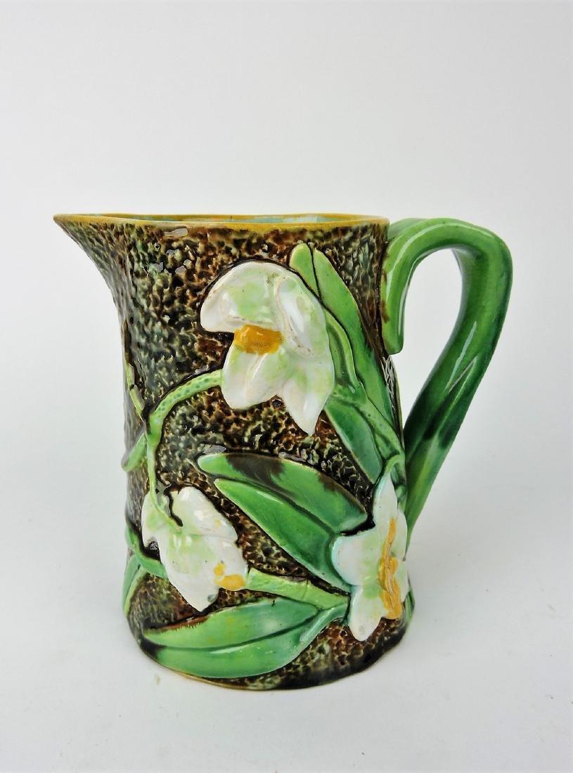 George Jones orchid majolica