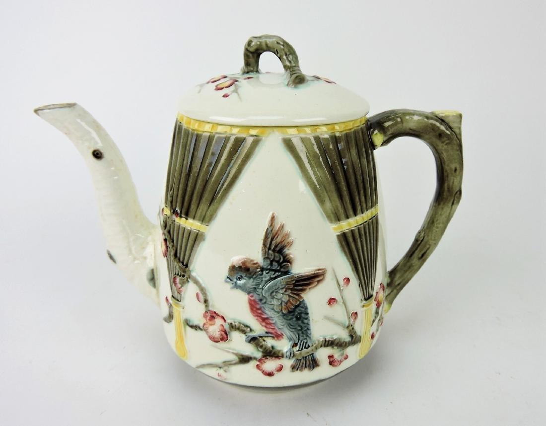 Wedgwood Argenta majolica bird and