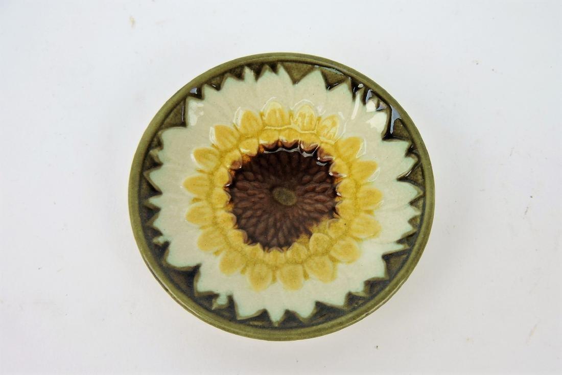 Wedgwood Argenta majolica sunflower