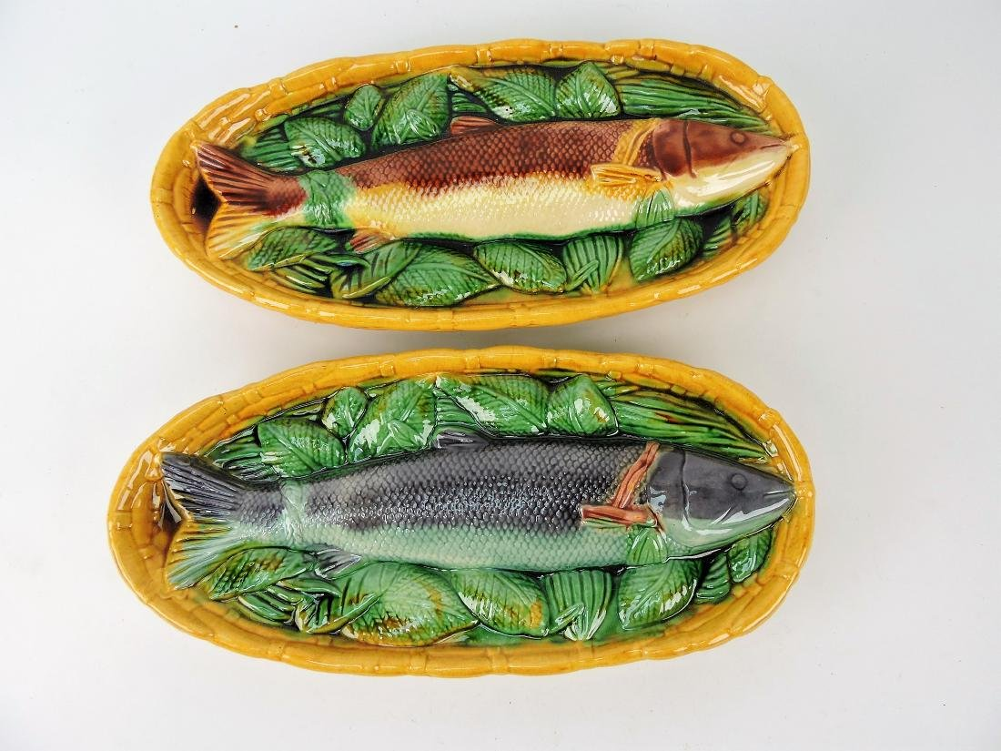 Contemporary pair of fish & basket