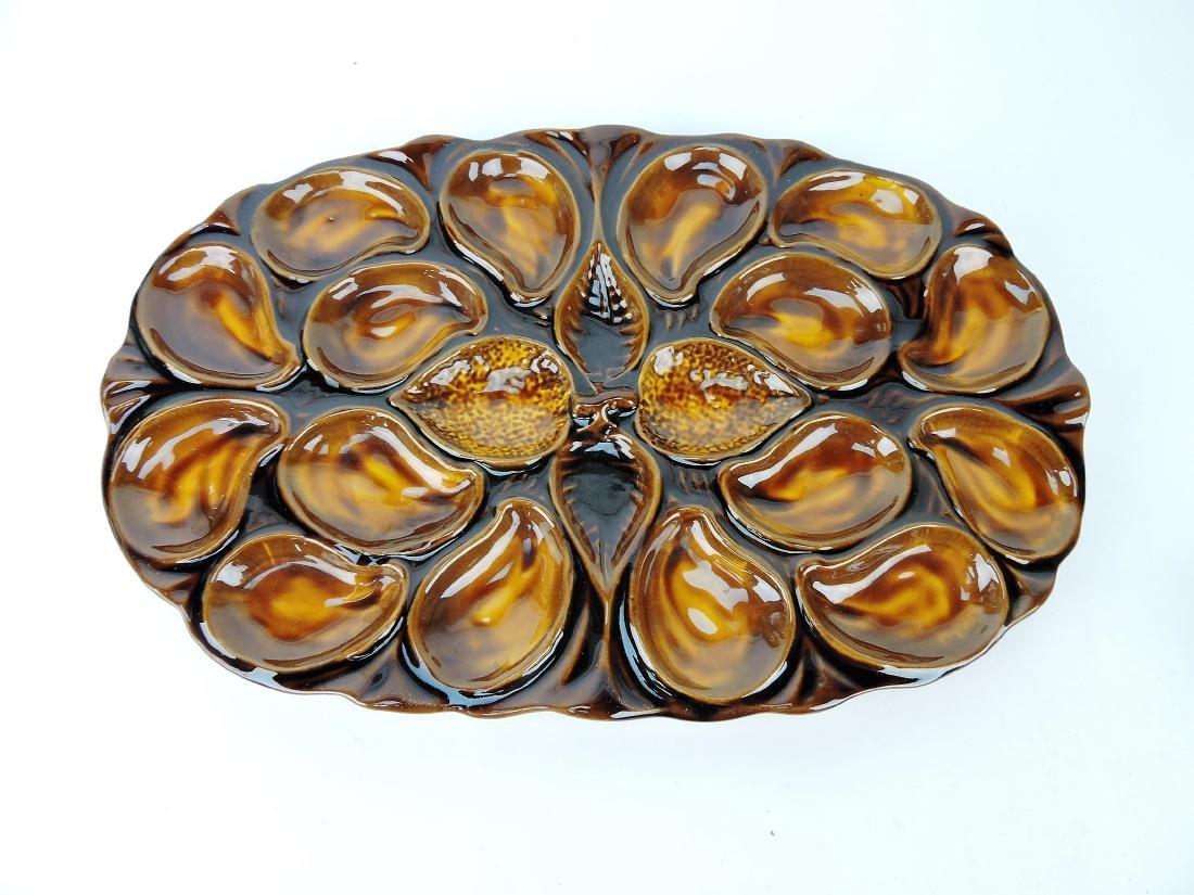 Vallauris large majolica oyster platter,