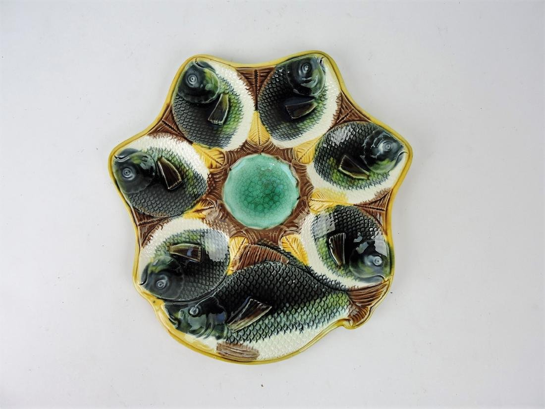 Adams & Bromley Majolica fish head
