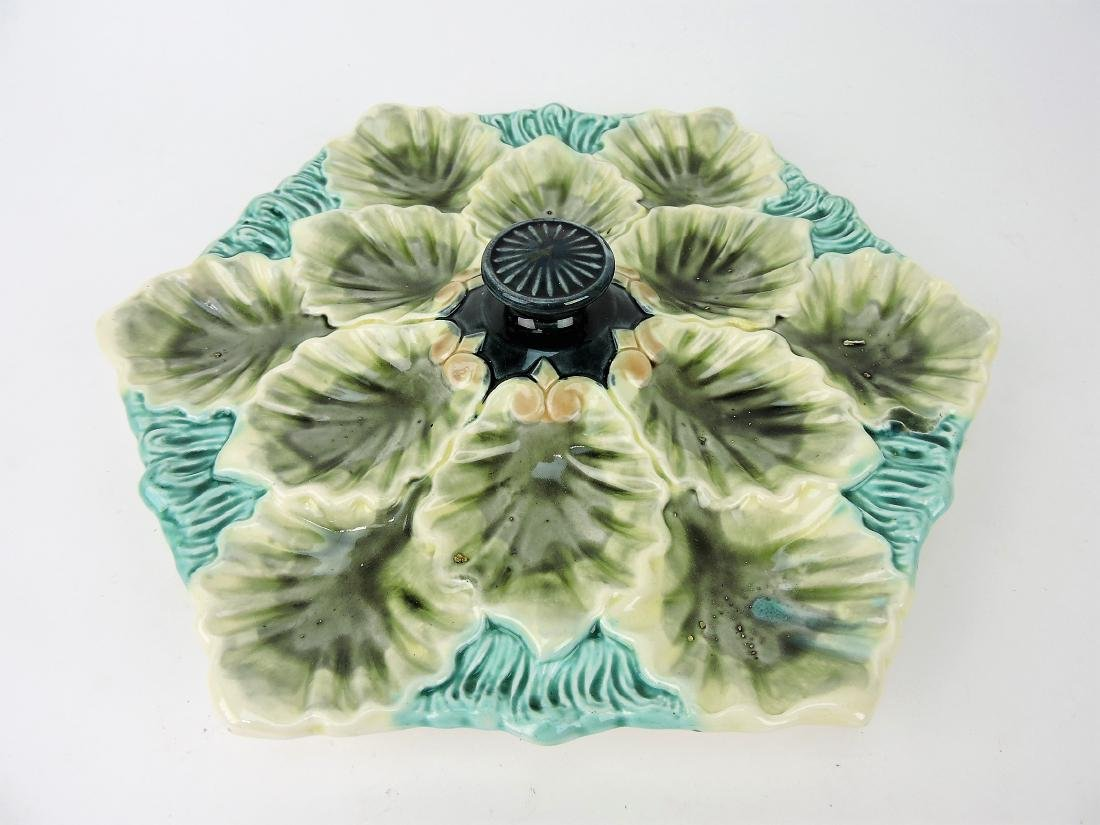 French Majolica oyster serving tray
