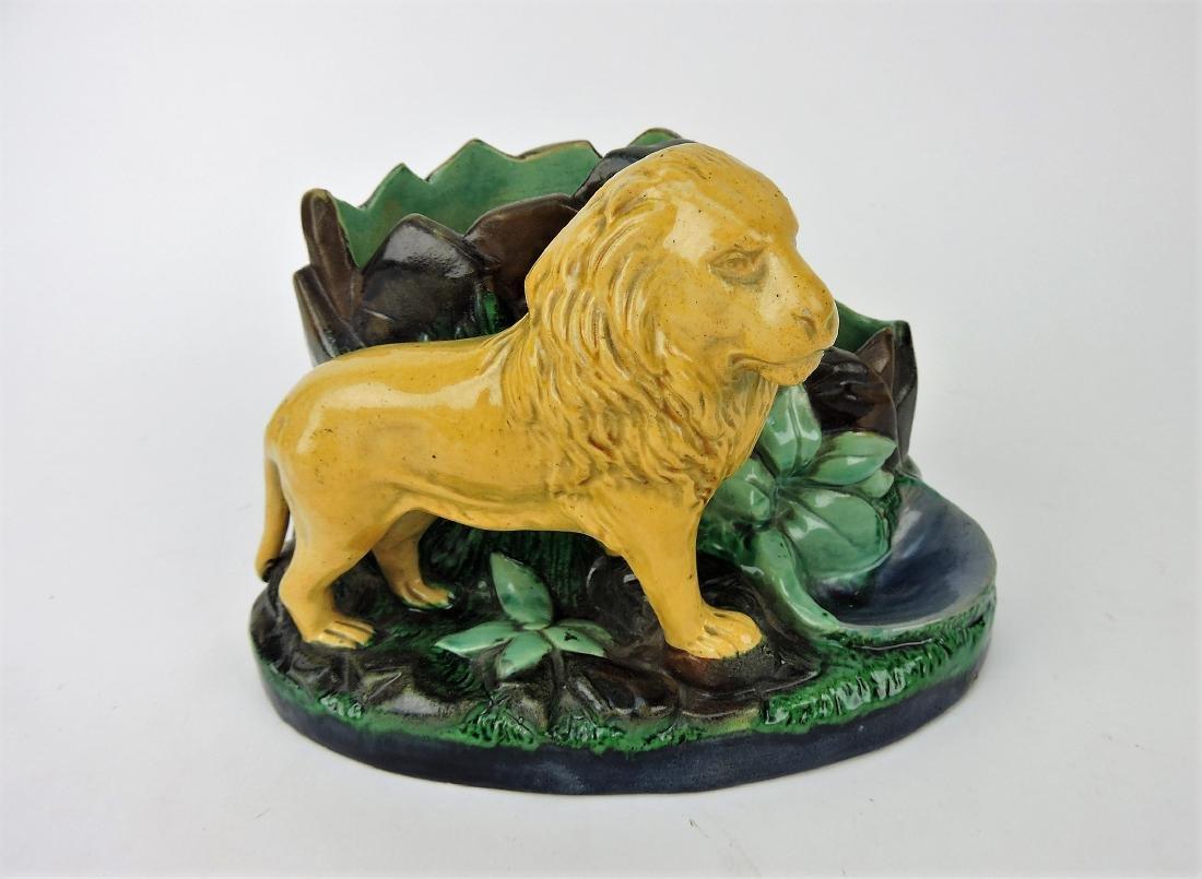 Bernard Bloch lion figural match