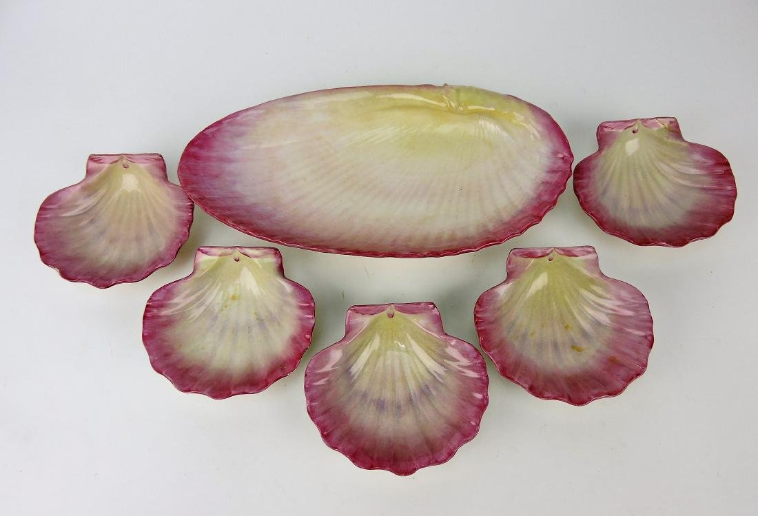 Wedgwood pink 6 piece shell set,