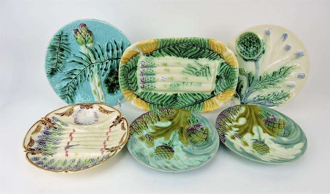 Salins Majolica asparagus platter,