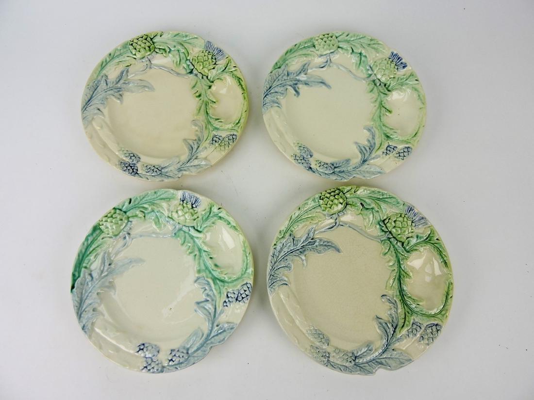 """Majolica set of 4 - 9 1/2"""" asparagus"""