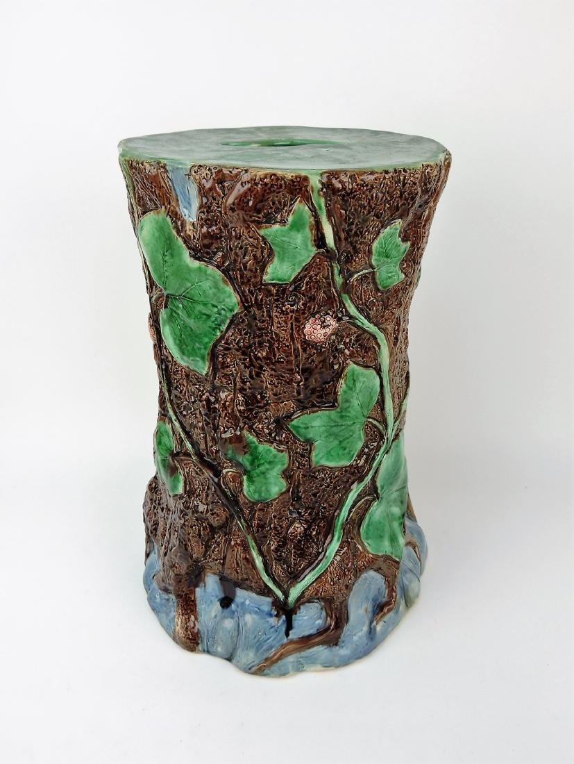 Holdcroft Majolica tree trunk and