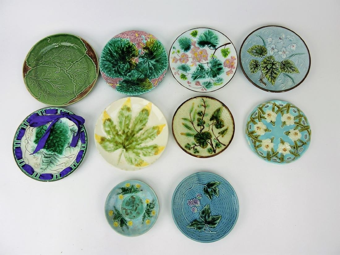Majolica lot of 10 plates,