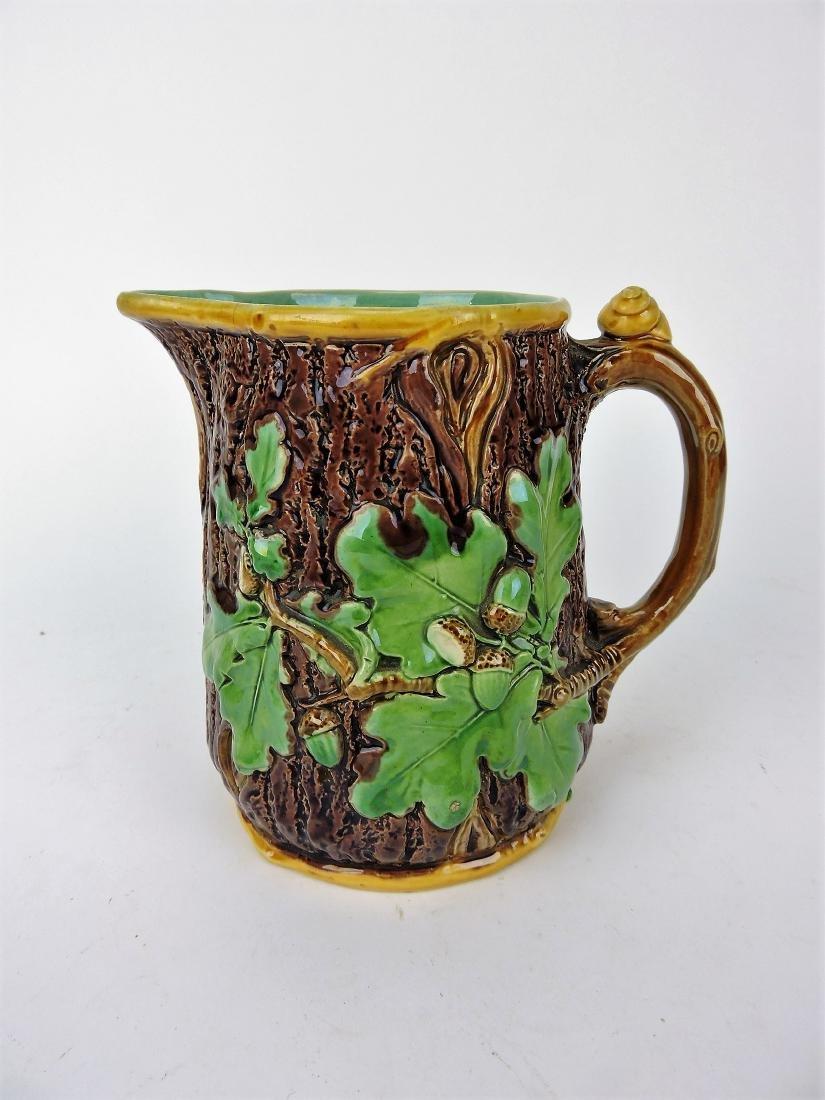 Minton Majolica oak leaf and acorn