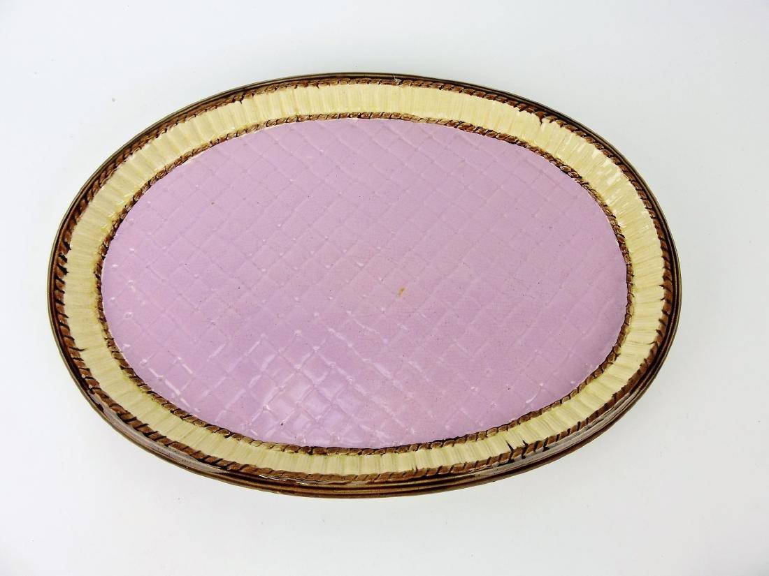 "Majolica large tea set tray, 17 1/2""l"