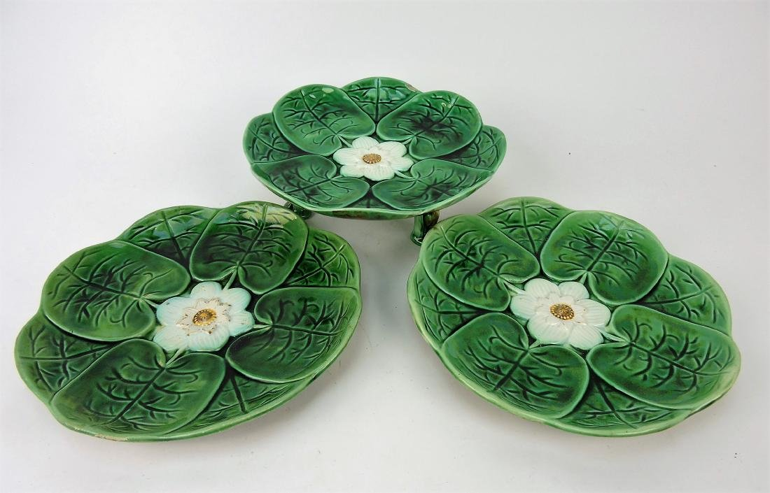 Majolica pond lily compote and