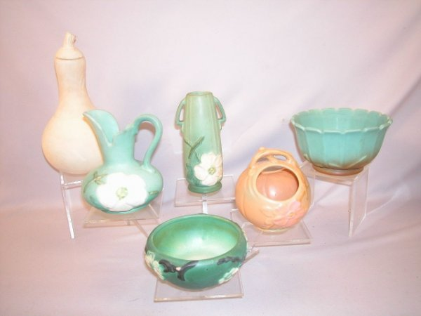1276: Weller pottery group - 6 pieces, various patterns
