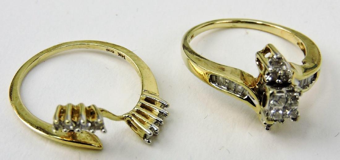 14kt lady diamond wedding ring set,