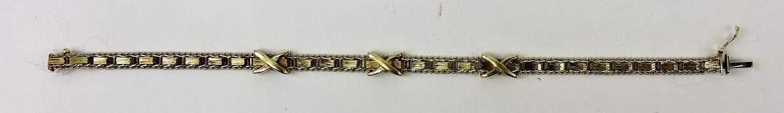Ladys 14k gold bracelet 135g