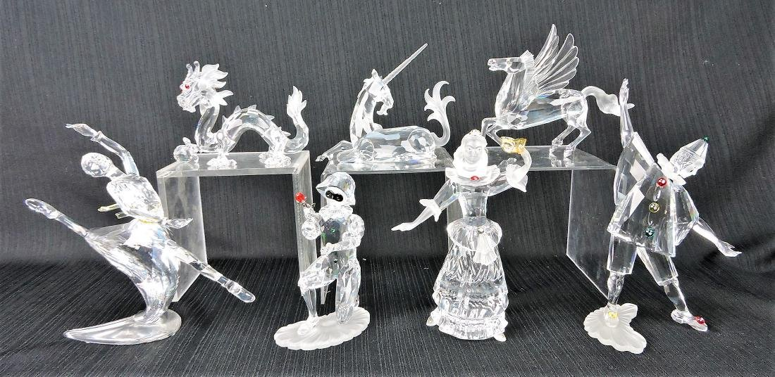 Swarovski lot of 7 society pieces;