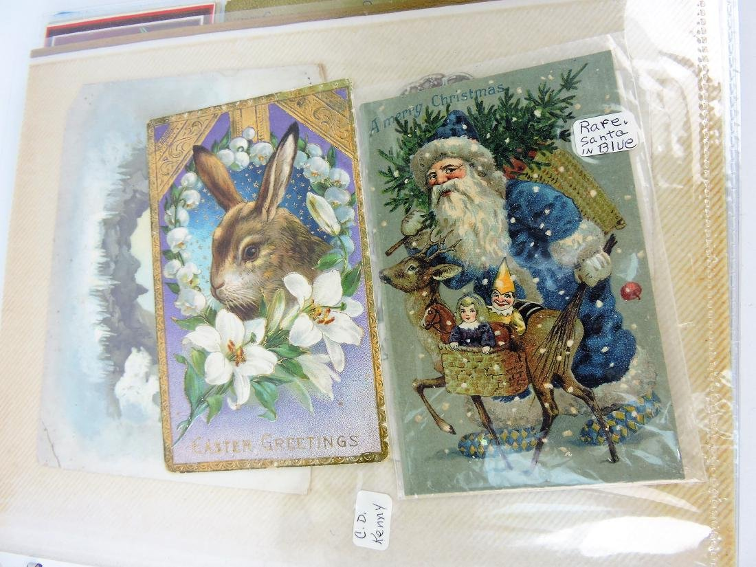 Post card album; Santa's, Christmas,