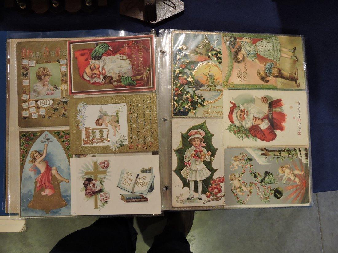 Post card album; Santa's, Christmas, - 7