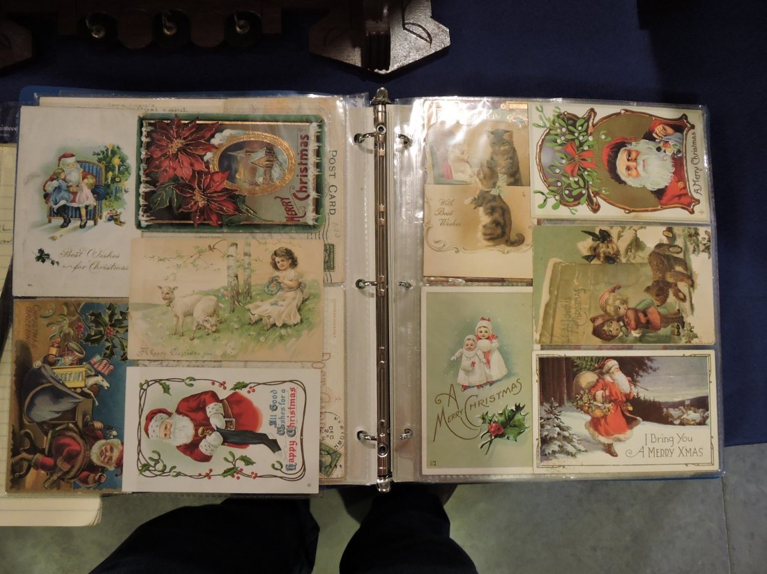 Post card album; Santa's, Christmas, - 8