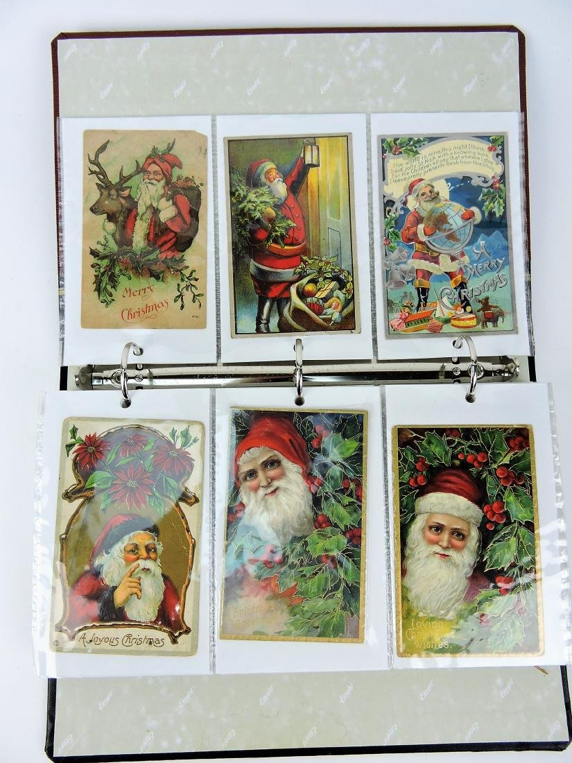 Santa post card album, 160 cards