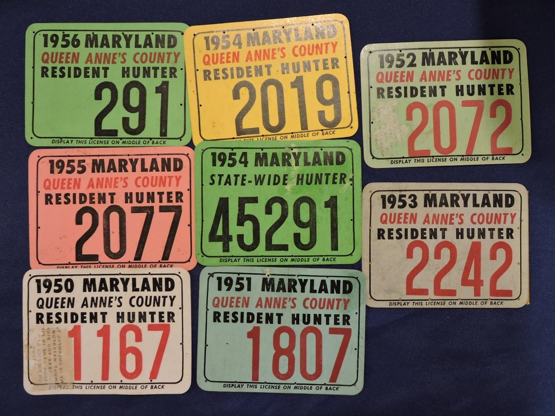 Lot of 9 Maryland and Queens County