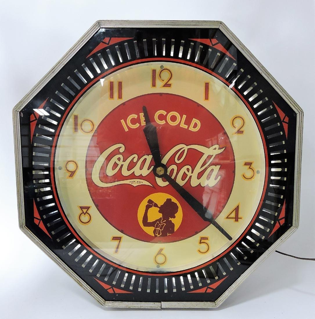 Rare Coca Cola neon spinner wall