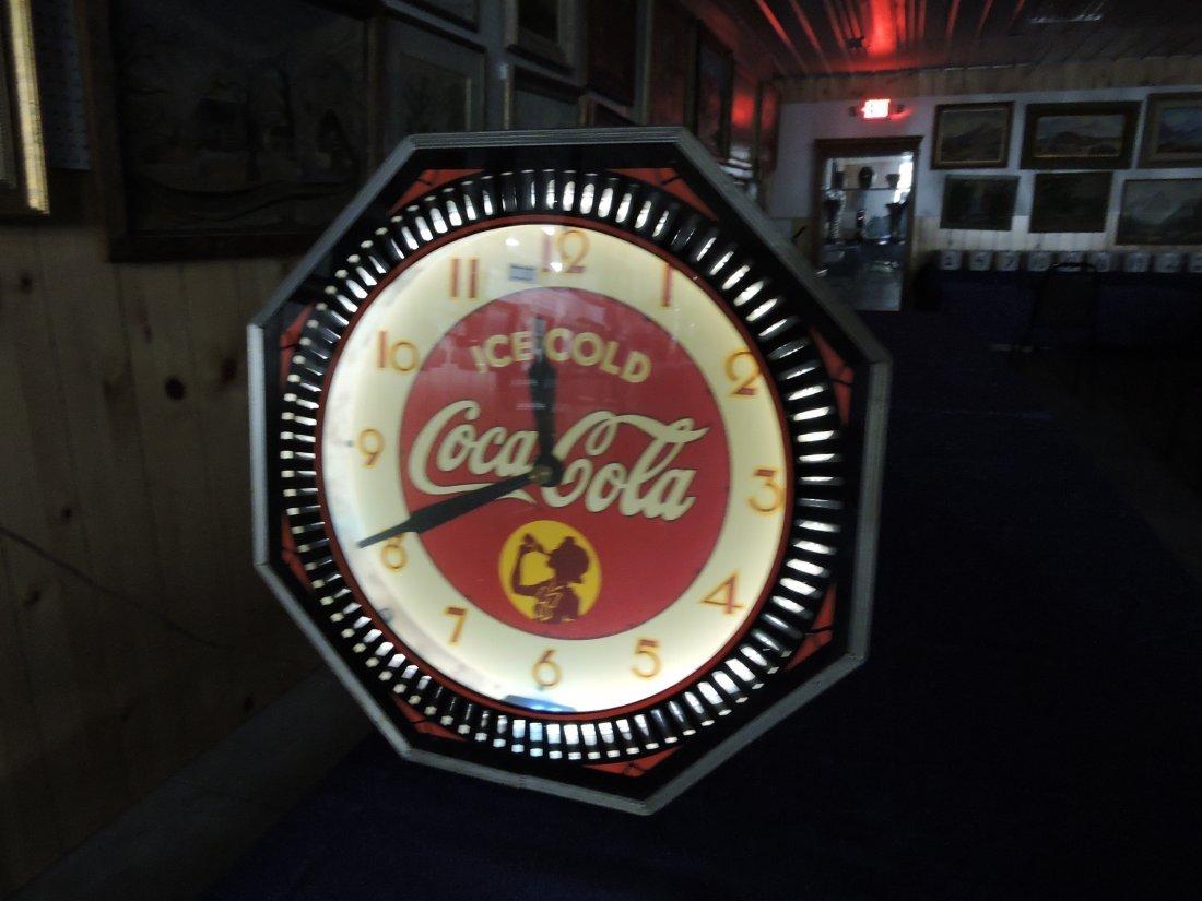 Rare Coca Cola neon spinner wall - 3