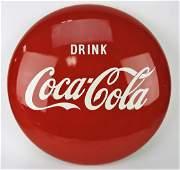 Coca Cola porcelain button sign