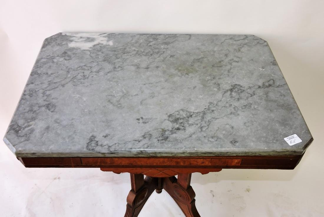 Walnut Victorian marble top parlor - 2