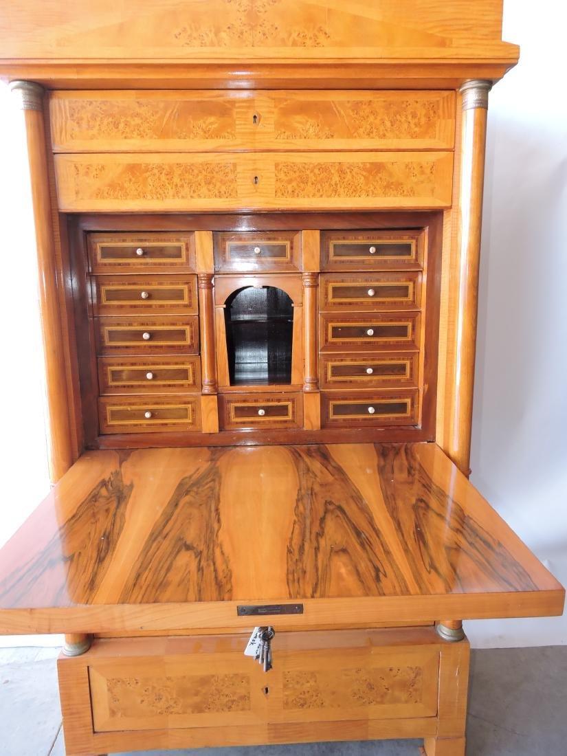Rare Biedermeier drop front desk with - 5