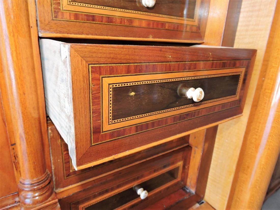 Rare Biedermeier drop front desk with - 6