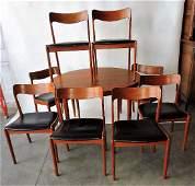 Teak mid century modern dining table