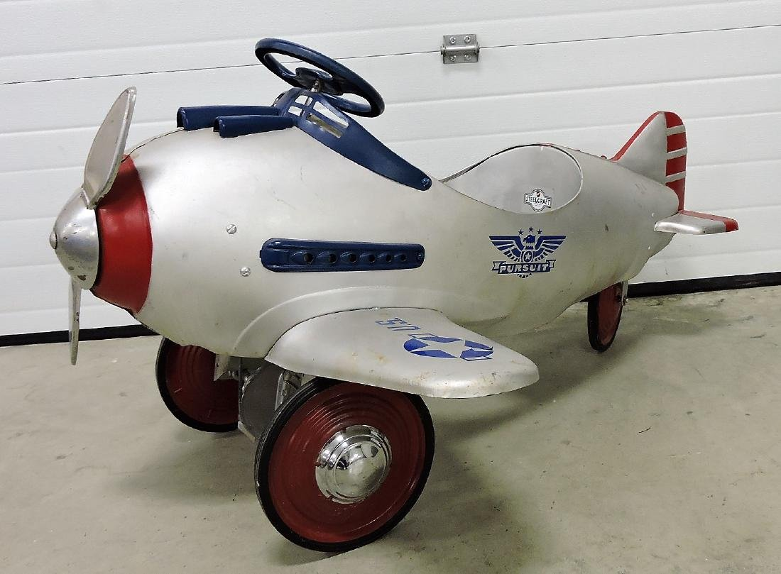 1941 Steelcraft Army Pursuit pedal airplane