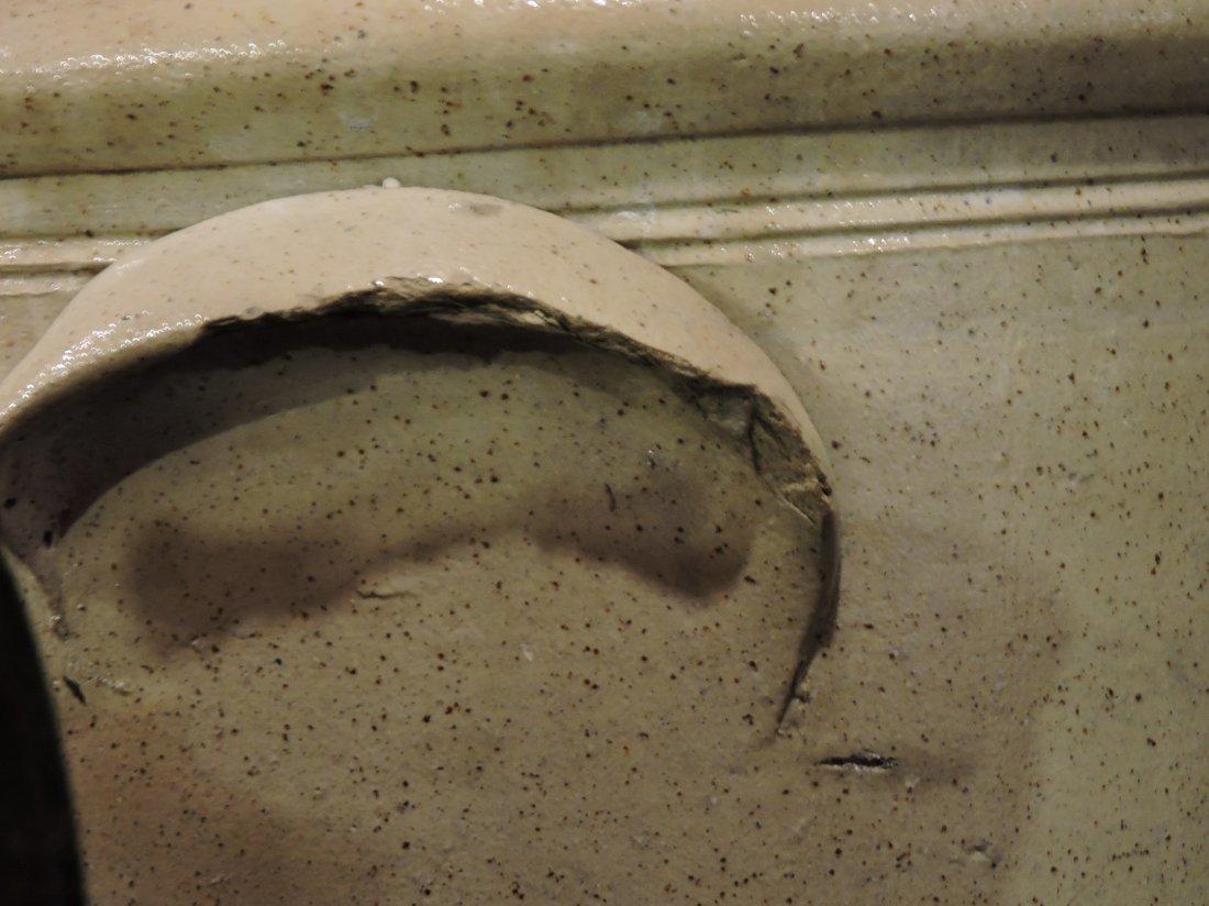 4 gallon salt glaze beesting crock, - 3