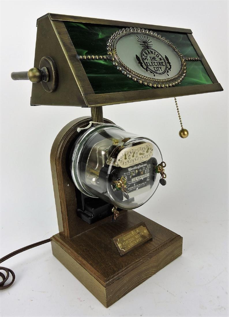 1920's electric meter desk lamp