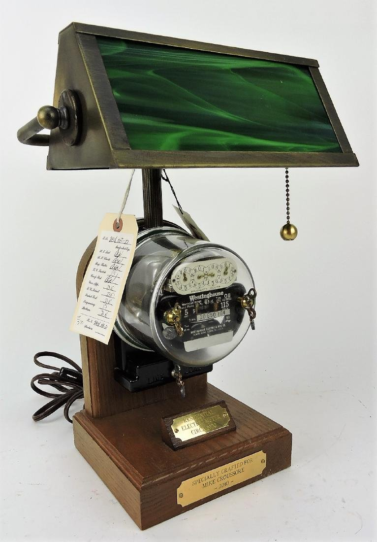1920's electric meter desk lamp