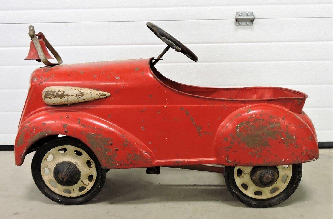 1936 Steelcraft Fire Chief pedal car, original