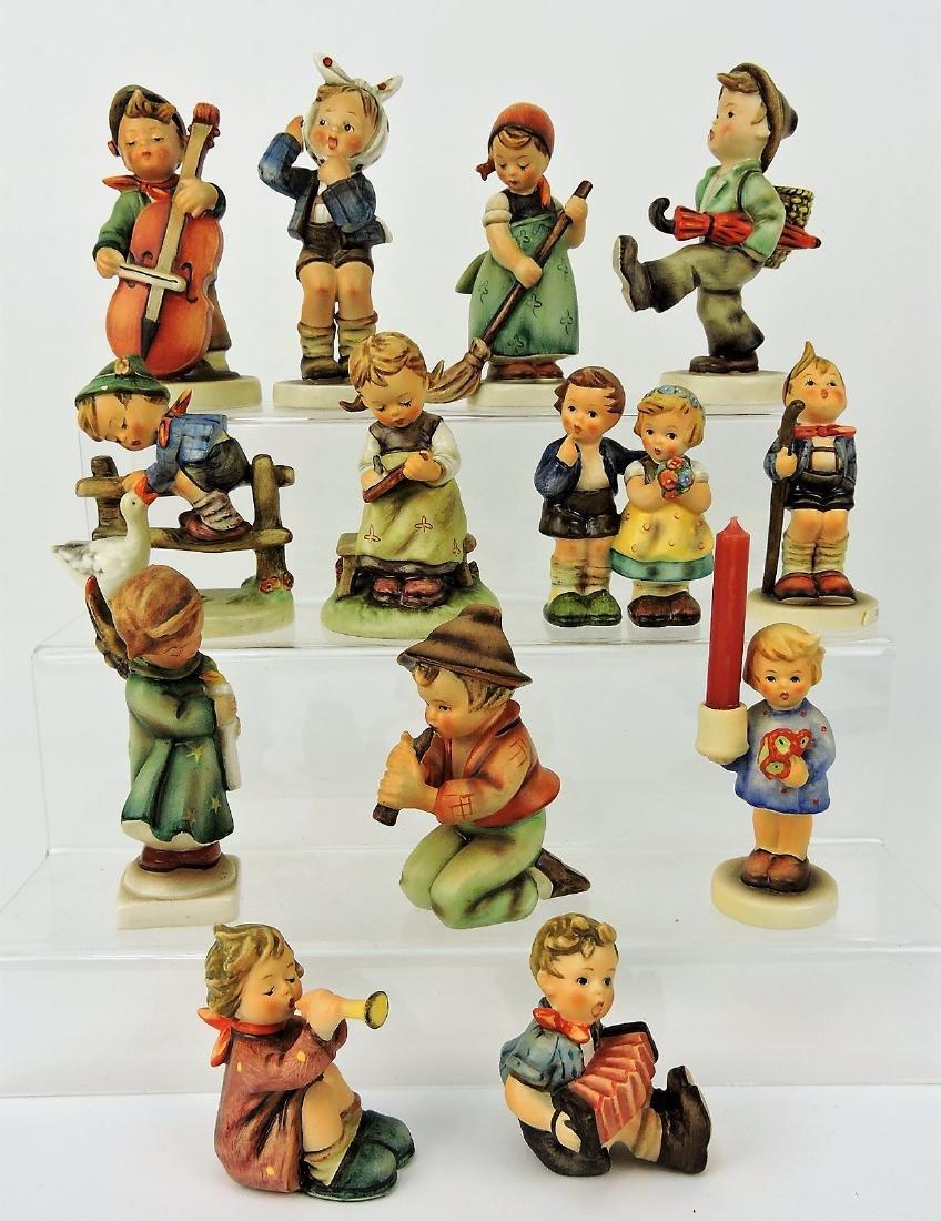 """Hummel lot of 13 figures, 4 1/2"""" avg;"""