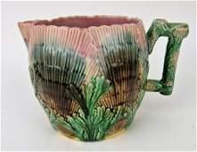 "Etruscan majolica shell & seaweed 5 3/4"""