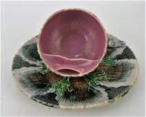 Etruscan majolica shell & seaweed