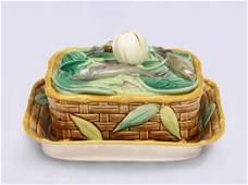 Victorian Pottery Co. Majolica sardine dish