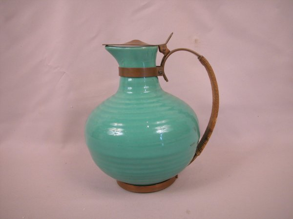 5: Bauer Pottery green carafe