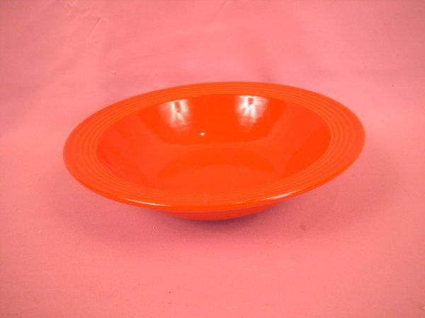 """8: Bauer Pottery Ringware 11 1/2"""" red deep bowl"""